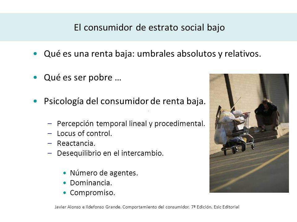 El consumidor de estrato social bajo
