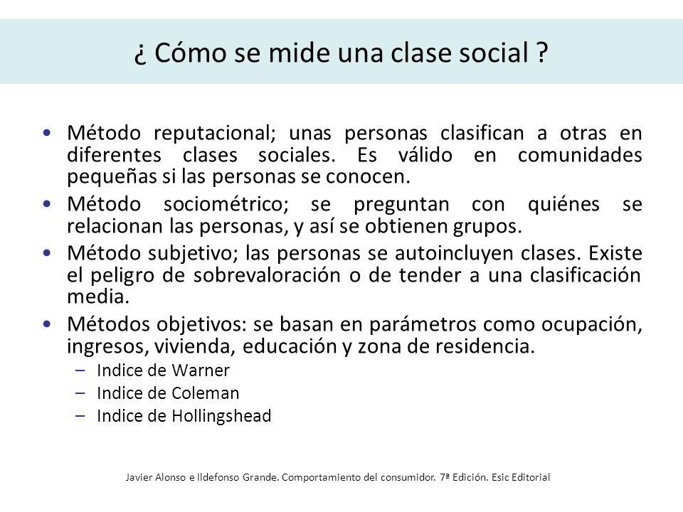 ¿ Cómo se mide una clase social