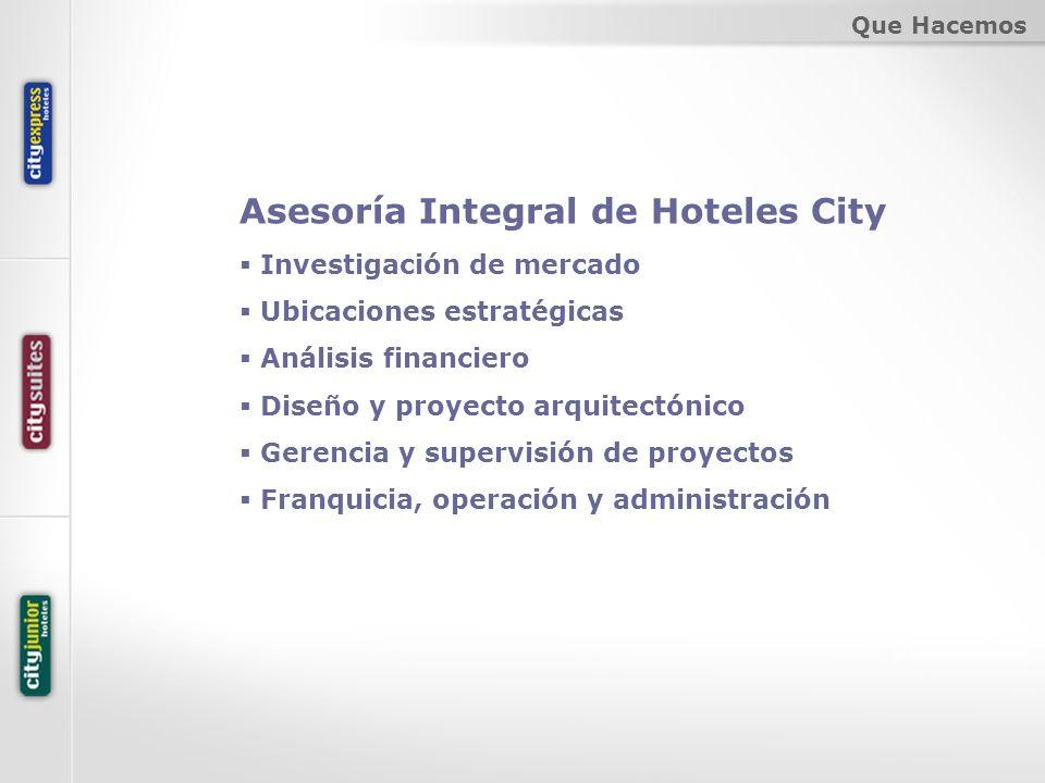 Asesoría Integral de Hoteles City