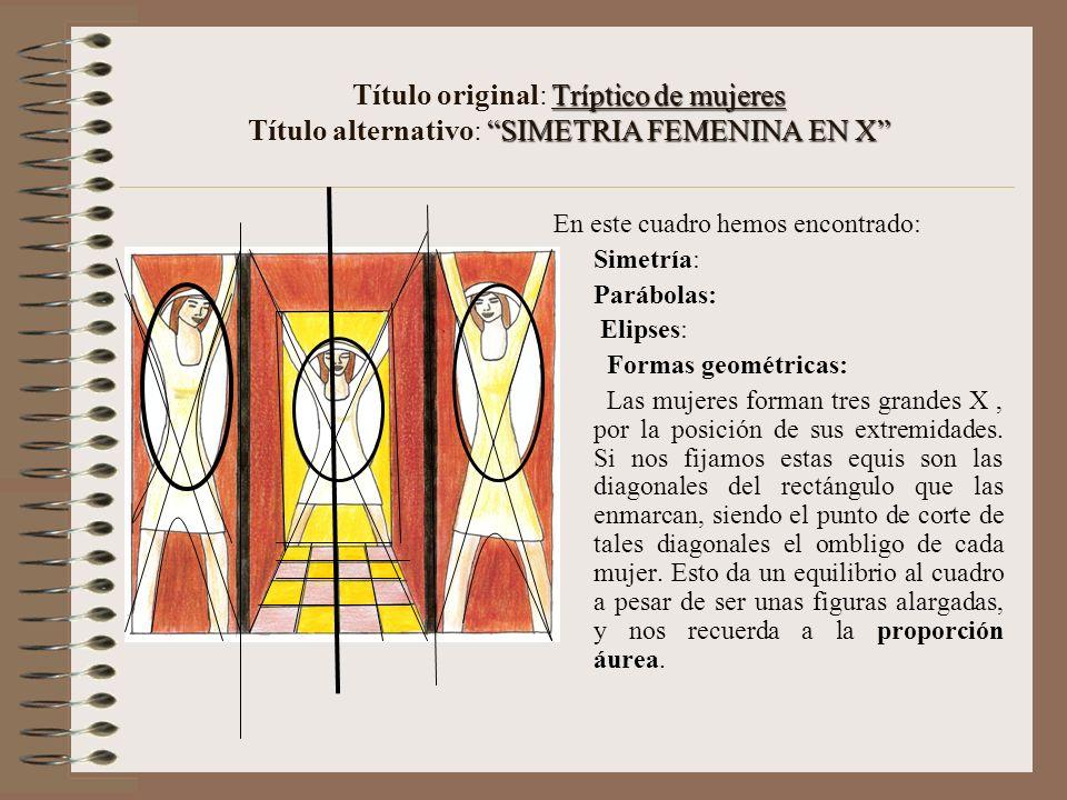 Título original: Tríptico de mujeres Título alternativo: SIMETRIA FEMENINA EN X