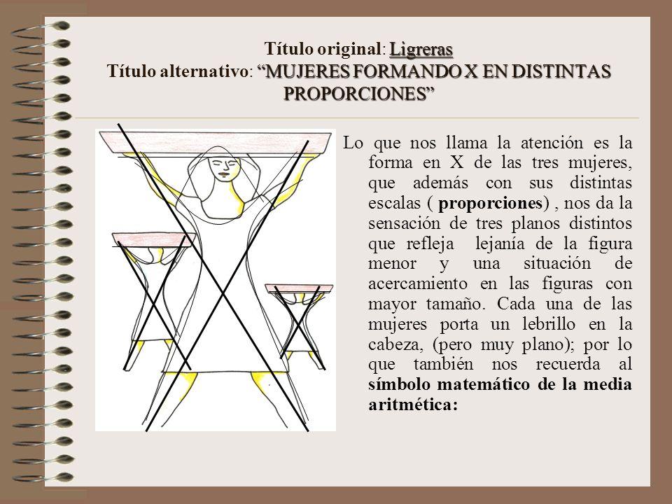 Título original: Ligreras Título alternativo: MUJERES FORMANDO X EN DISTINTAS PROPORCIONES