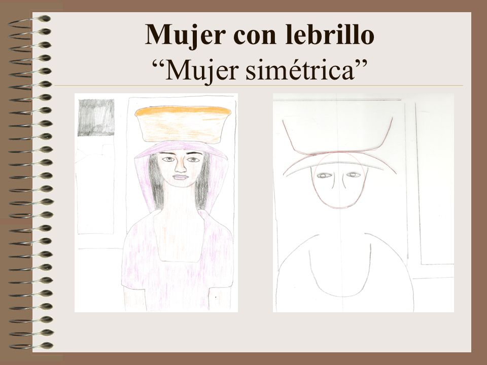 Mujer con lebrillo Mujer simétrica