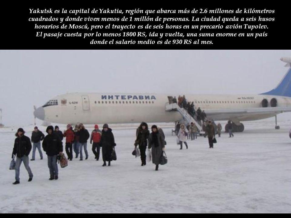 Yakutsk es la capital de Yakutia, región que abarca más de 2