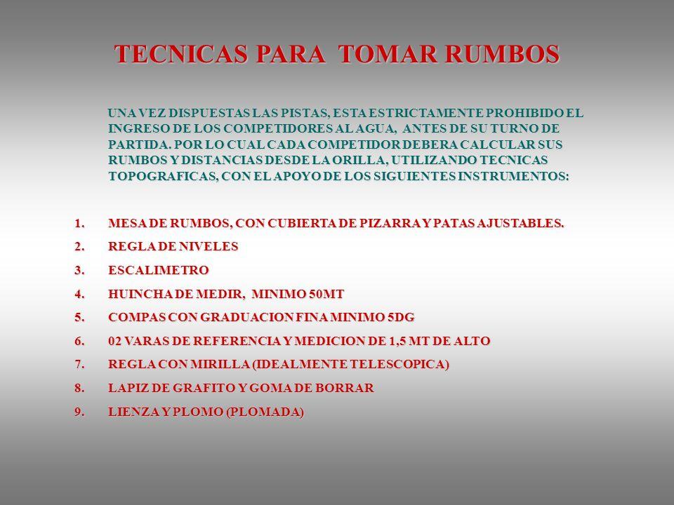 TECNICAS PARA TOMAR RUMBOS