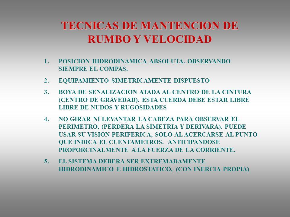 TECNICAS DE MANTENCION DE RUMBO Y VELOCIDAD