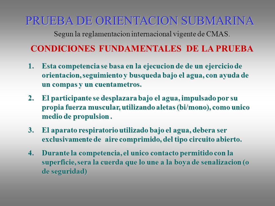 CONDICIONES FUNDAMENTALES DE LA PRUEBA