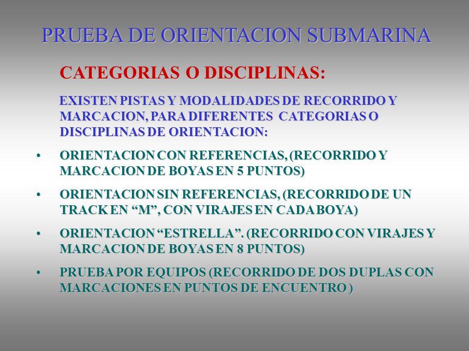 PRUEBA DE ORIENTACION SUBMARINA