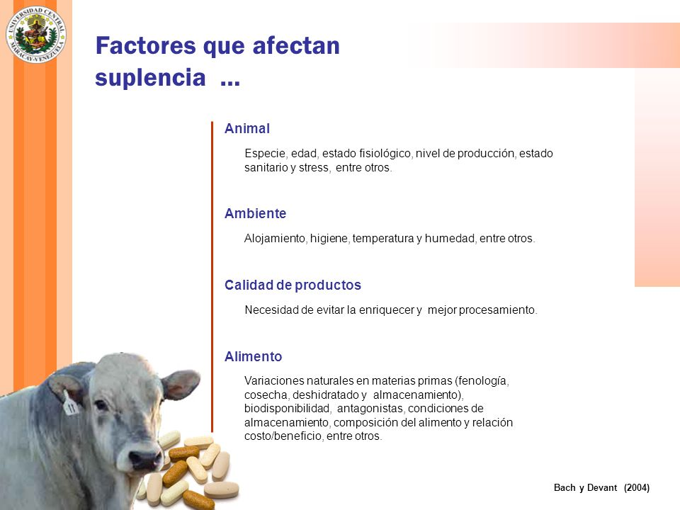 Factores que afectan suplencia …