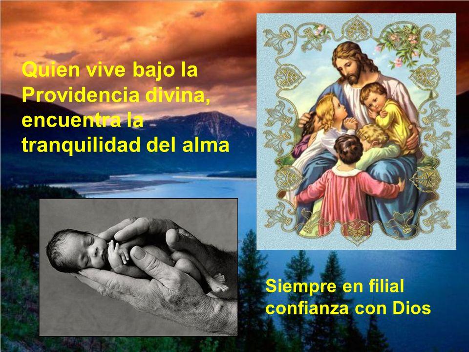 Quien vive bajo la Providencia divina, encuentra la tranquilidad del alma