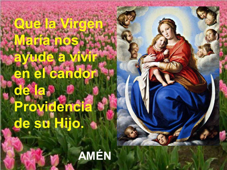 Que la Virgen María nos ayude a vivir en el candor de la Providencia de su Hijo.