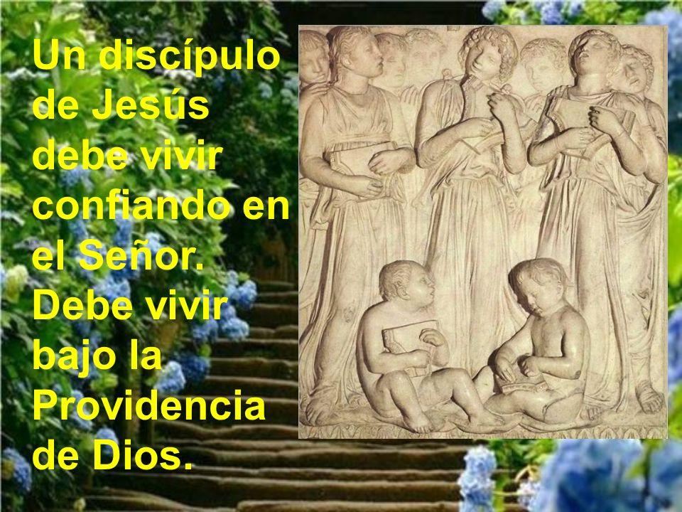 Un discípulo de Jesús debe vivir confiando en el Señor