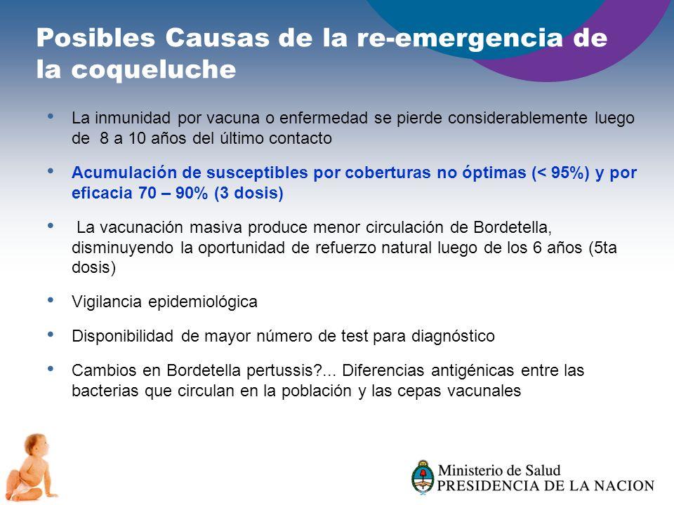 Posibles Causas de la re-emergencia de la coqueluche