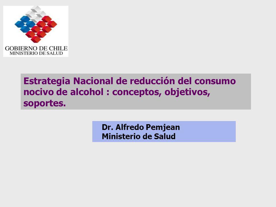 Estrategia Nacional de reducción del consumo nocivo de alcohol : conceptos, objetivos, soportes.