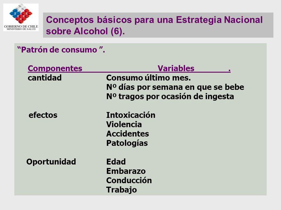 Conceptos básicos para una Estrategia Nacional sobre Alcohol (6).