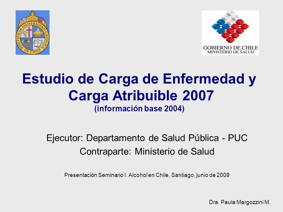 Estudio de Carga de Enfermedad y Carga Atribuible 2007 (información base 2004)