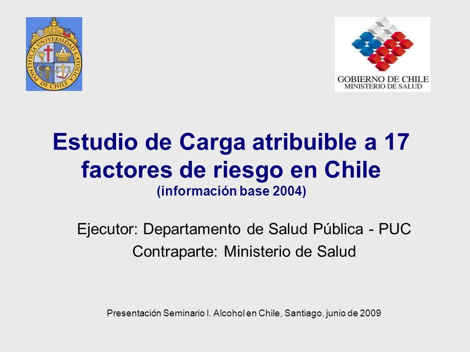 Estudio de Carga atribuible a 17 factores de riesgo en Chile (información base 2004)