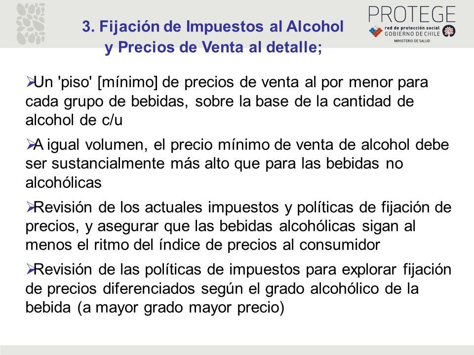 3. Fijación de Impuestos al Alcohol