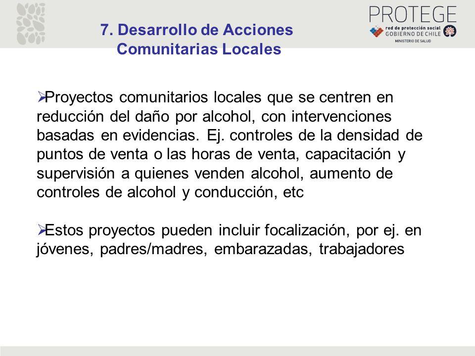 7. Desarrollo de Acciones
