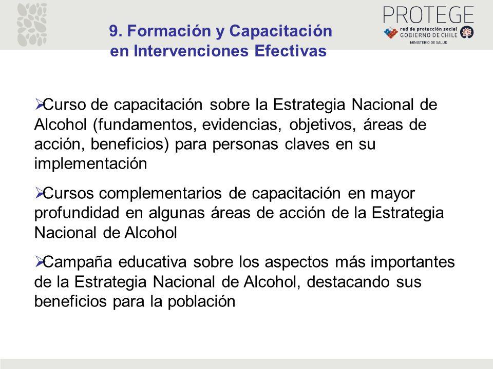 9. Formación y Capacitación en Intervenciones Efectivas