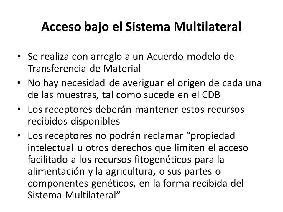 Acceso bajo el Sistema Multilateral