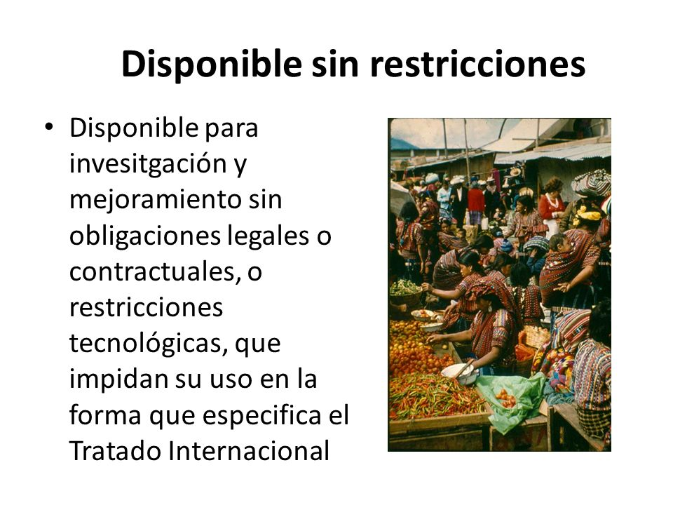 Disponible sin restricciones