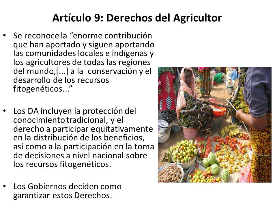 Artículo 9: Derechos del Agricultor