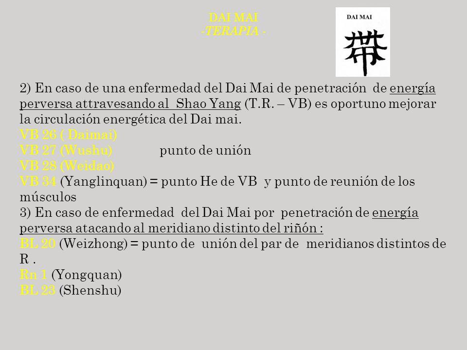 VB 27 (Wushu) punto de unión VB 28 (Weidao)