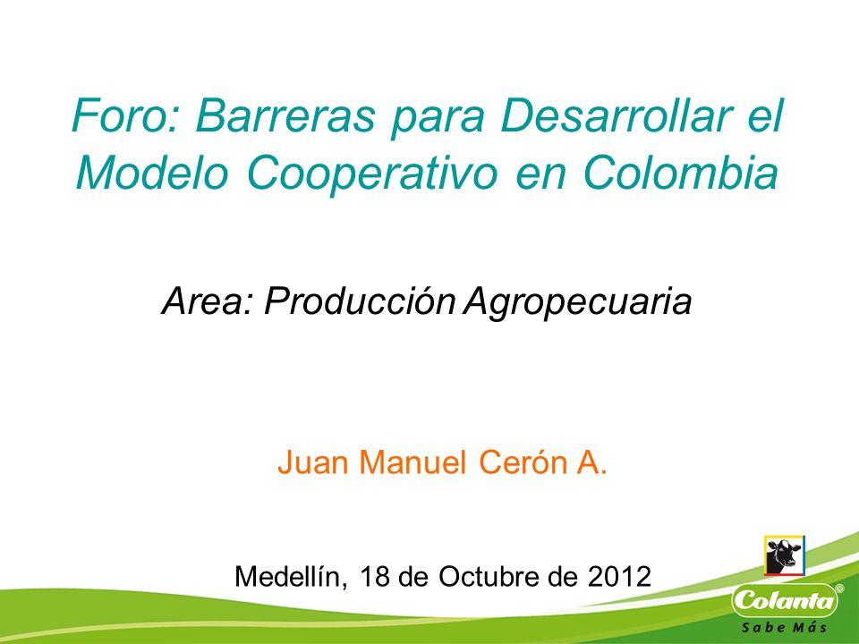 Foro: Barreras para Desarrollar el Modelo Cooperativo en Colombia