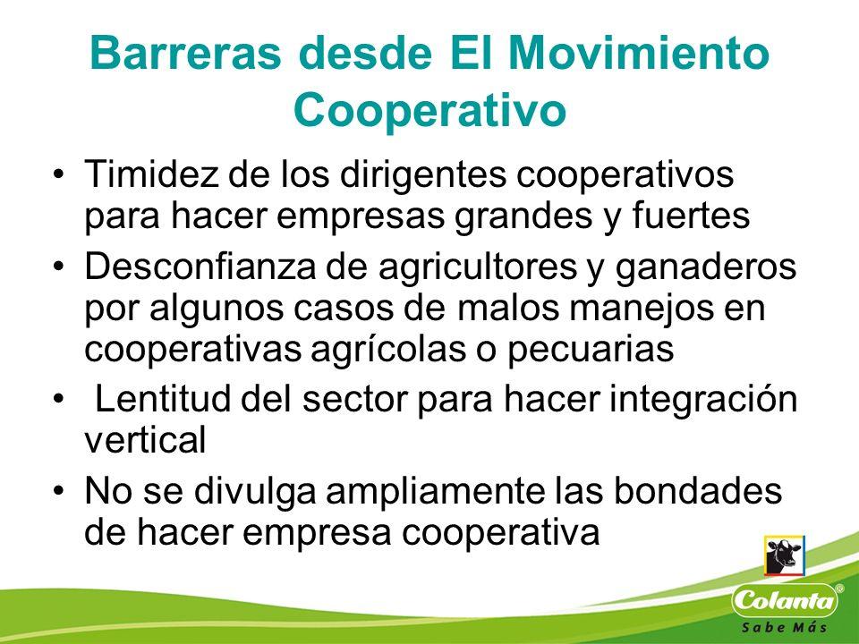 Barreras desde El Movimiento Cooperativo