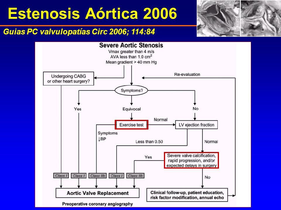 Estenosis Aórtica 2006 Guias PC valvulopatías Circ 2006; 114:84