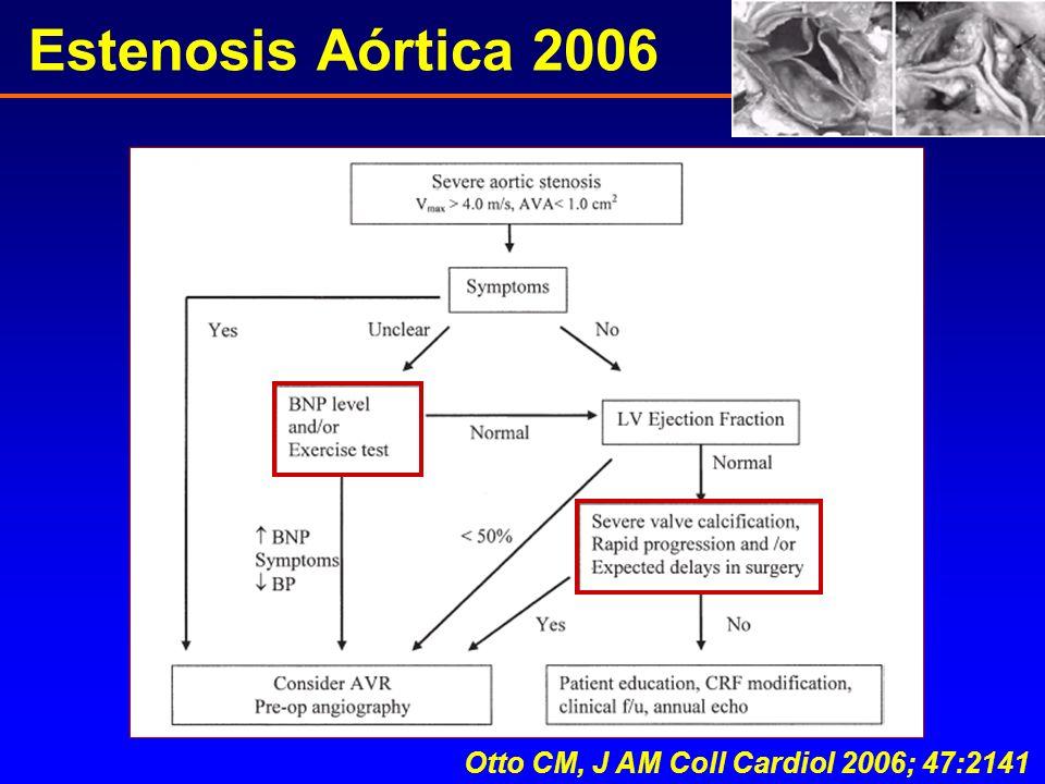 Estenosis Aórtica 2006 Otto CM, J AM Coll Cardiol 2006; 47:2141