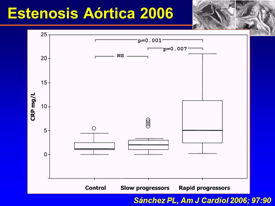 Estenosis Aórtica 2006 Sánchez PL, Am J Cardiol 2006; 97:90