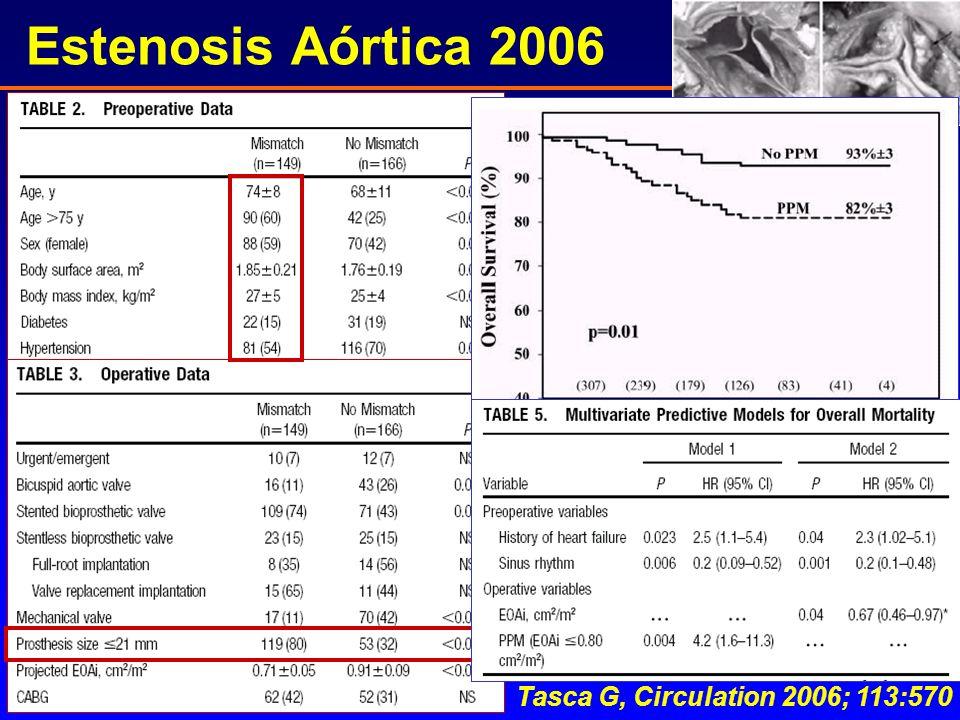Estenosis Aórtica 2006 Tasca G, Circulation 2006; 113:570