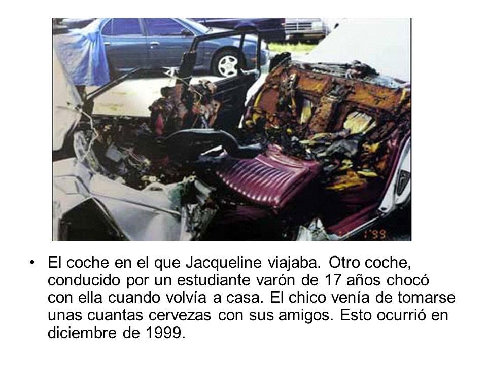 El coche en el que Jacqueline viajaba
