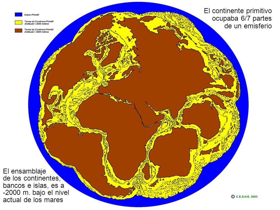 El continente primitivo ocupaba 6/7 partes