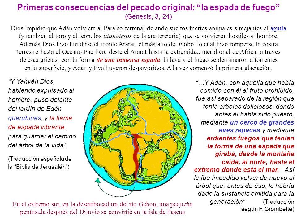 Primeras consecuencias del pecado original: la espada de fuego (Génesis, 3, 24)