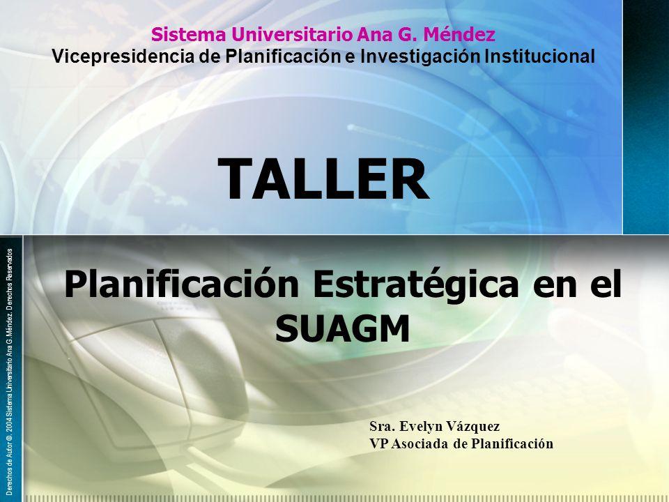 Planificación Estratégica en el SUAGM