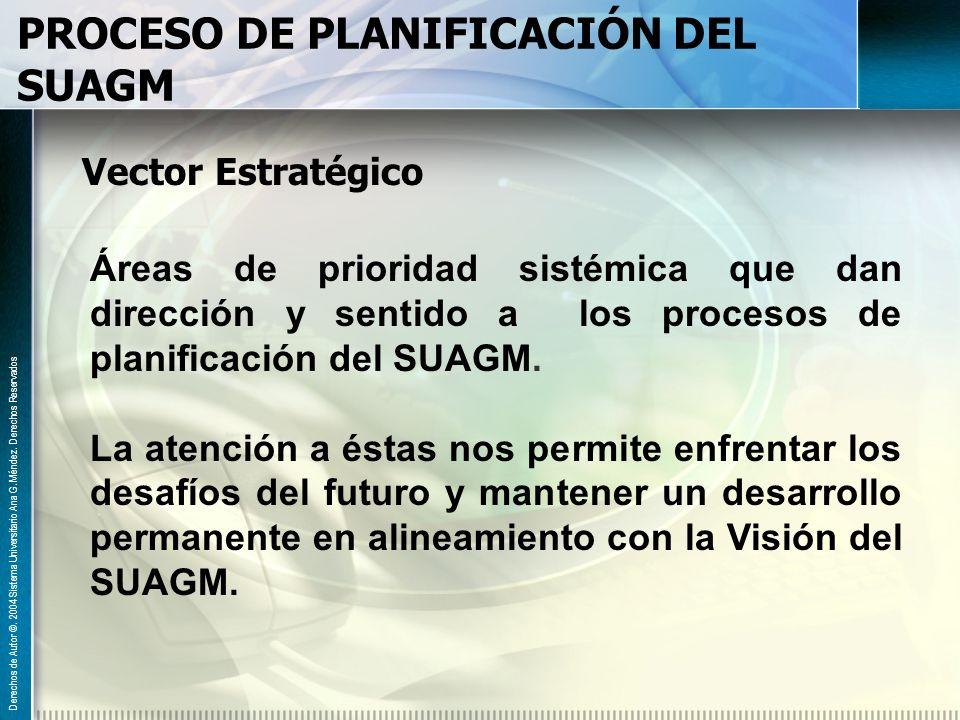 PROCESO DE PLANIFICACIÓN DEL SUAGM