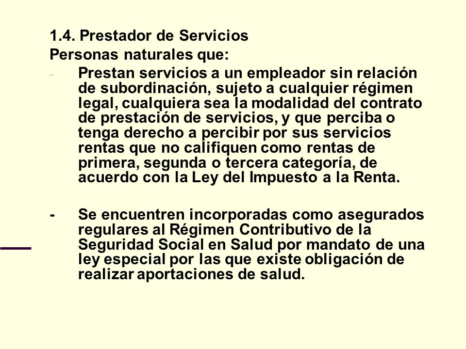 1.4. Prestador de Servicios
