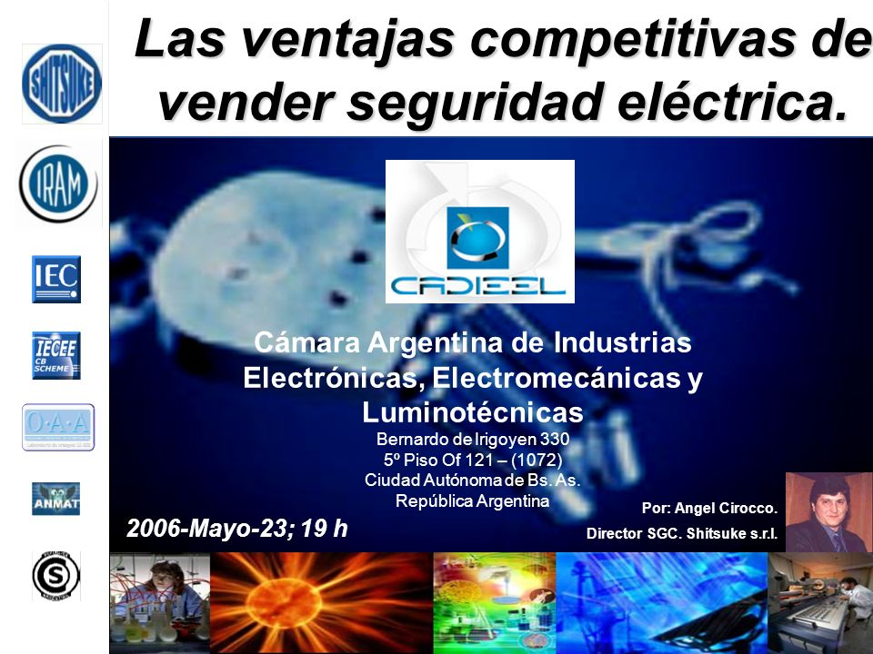 Las ventajas competitivas de vender seguridad eléctrica.