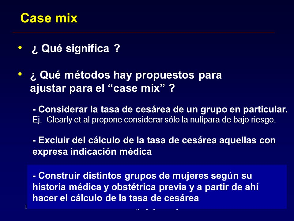 Case mix ¿ Qué significa
