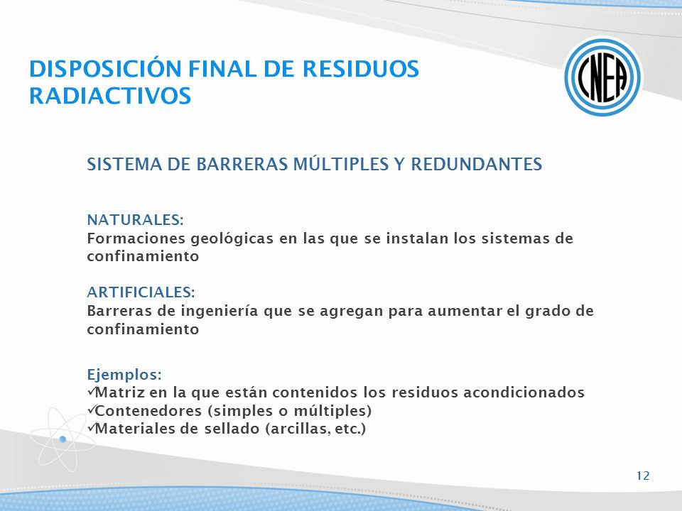 DISPOSICIÓN FINAL DE RESIDUOS RADIACTIVOS