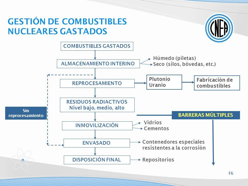 COMBUSTIBLES GASTADOS ALMACENAMIENTO INTERINO