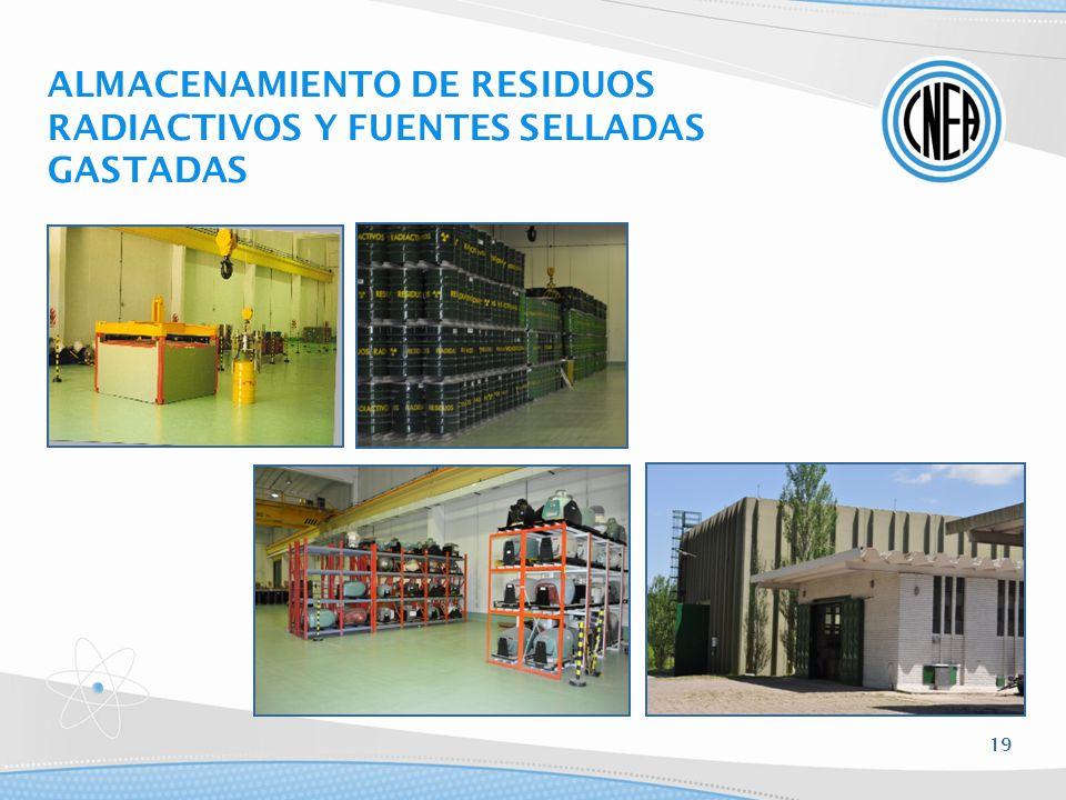 ALMACENAMIENTO DE RESIDUOS RADIACTIVOS Y FUENTES SELLADAS GASTADAS