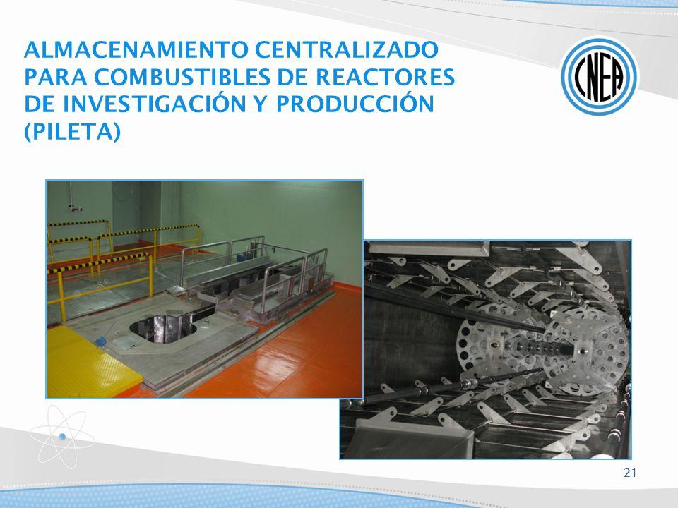 ALMACENAMIENTO CENTRALIZADO PARA COMBUSTIBLES DE REACTORES DE INVESTIGACIÓN Y PRODUCCIÓN (PILETA)