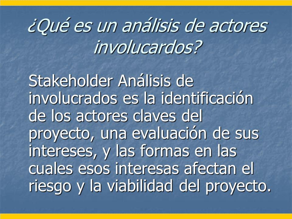 ¿Qué es un análisis de actores involucardos