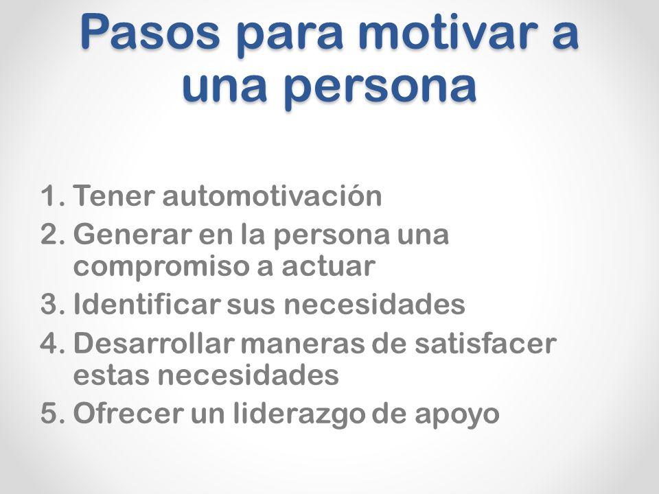 Pasos para motivar a una persona