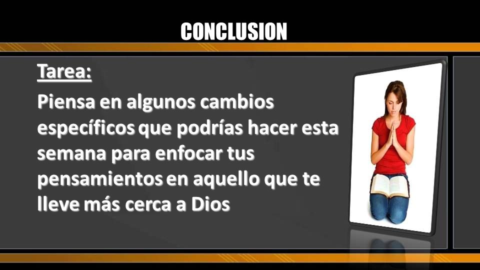 CONCLUSIONTarea: