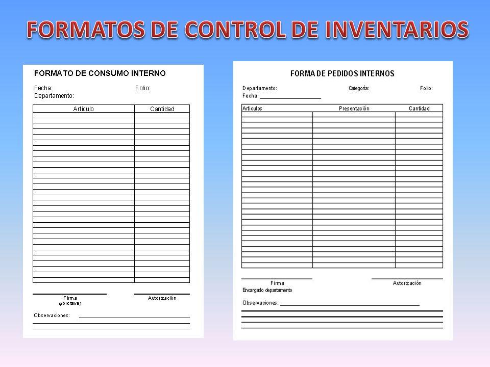 Formatos De Inventarios Para Almacen Control De Inventario