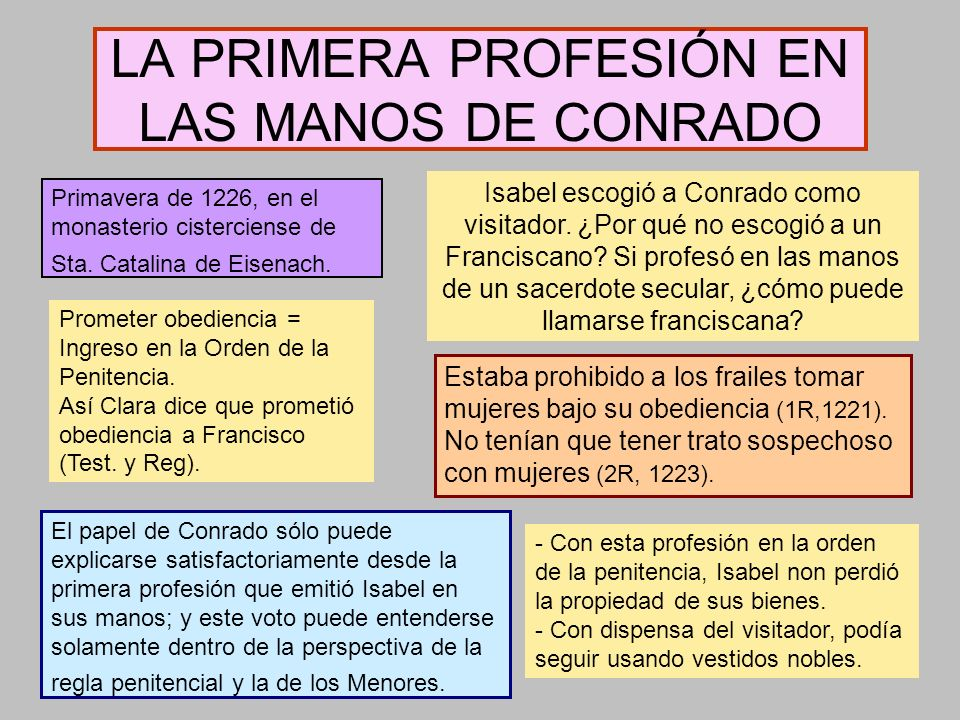 LA PRIMERA PROFESIÓN EN LAS MANOS DE CONRADO